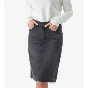 Yakira Bella distressed denim pencil skirt winter